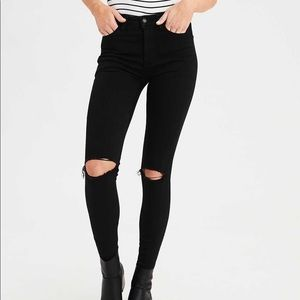 UO Ripped High Waisted Skinny Jeans
